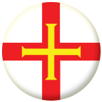 Guernsey Island Flag 58mm Button Badge
